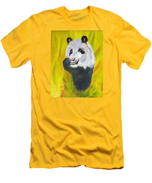 Panda-monium Men's T-Shirt (Slim Fit) by Meryl Goudey