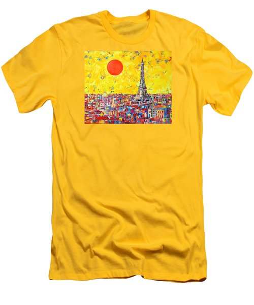 Paris In Sunlight Men's T-Shirt (Slim Fit) by Ana Maria Edulescu