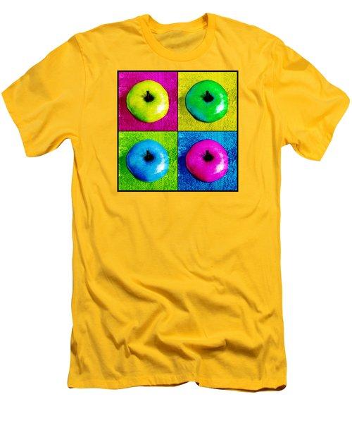 Pop Art Apples Men's T-Shirt (Slim Fit) by Shawna Rowe
