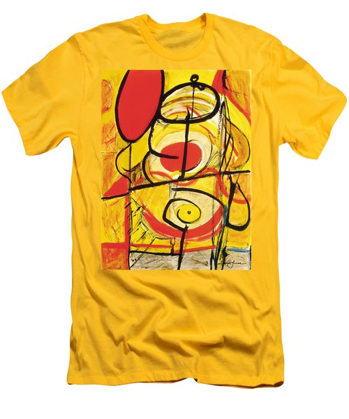 Men's T-Shirt (Slim Fit) featuring the painting Relativity 3 by Stephen Lucas