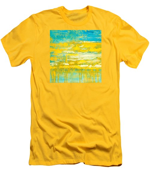 Men's T-Shirt (Slim Fit) featuring the painting River Of Praise by Donna Dixon