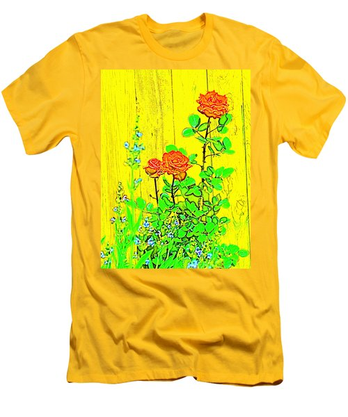 Men's T-Shirt (Slim Fit) featuring the photograph Rose 9 by Pamela Cooper