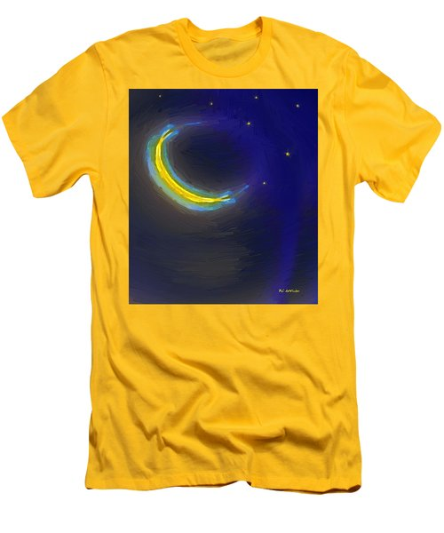 Seven Stars And The Moon Men's T-Shirt (Slim Fit) by RC deWinter