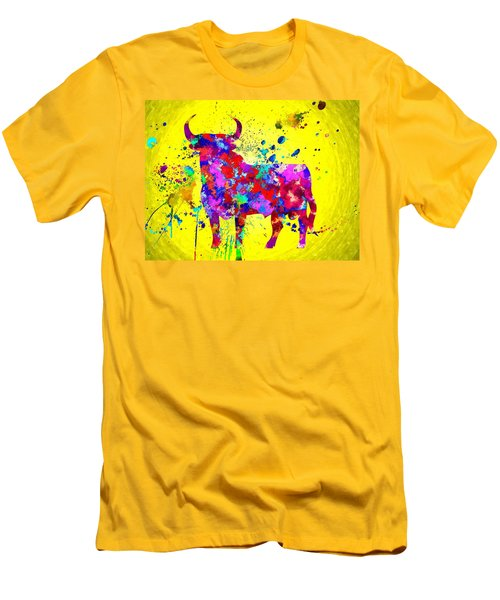Spanish Bull Men's T-Shirt (Slim Fit) by Daniel Janda