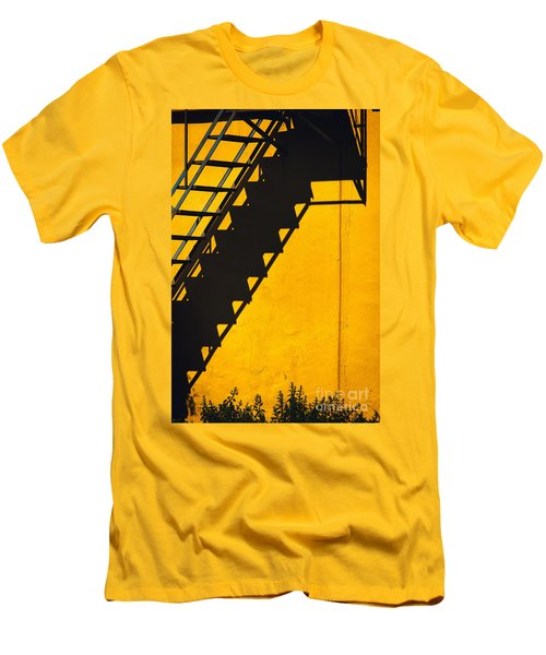 Men's T-Shirt (Slim Fit) featuring the photograph Staircase Shadow by Silvia Ganora