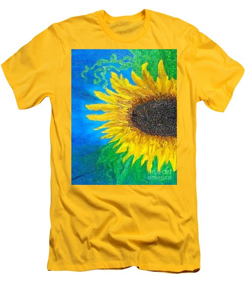 Sunflower Men's T-Shirt (Slim Fit) by Holly Martinson