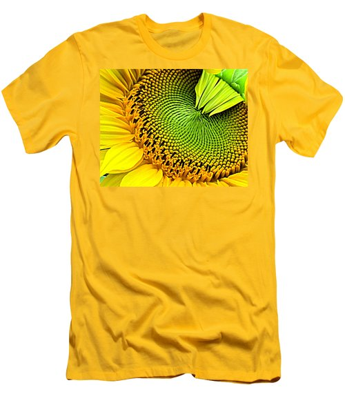 Sunflower Kaleidescope Men's T-Shirt (Athletic Fit)