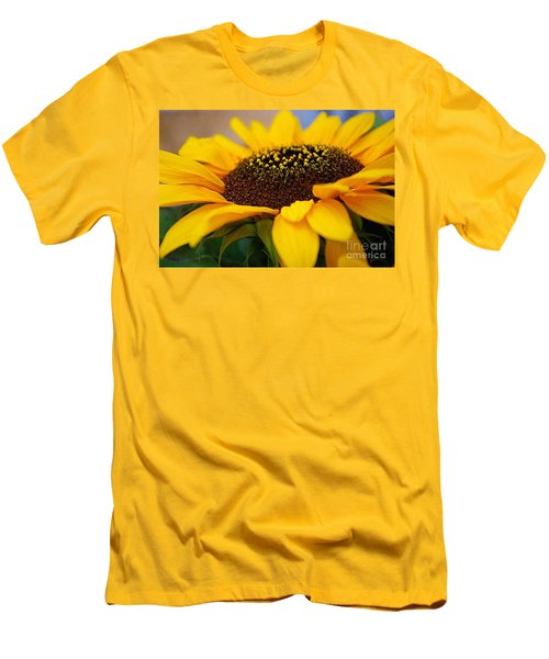 Men's T-Shirt (Slim Fit) featuring the photograph Sunflower Portrait Two by John S