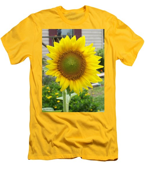 Bright Sunflower Happiness Men's T-Shirt (Slim Fit) by Belinda Lee