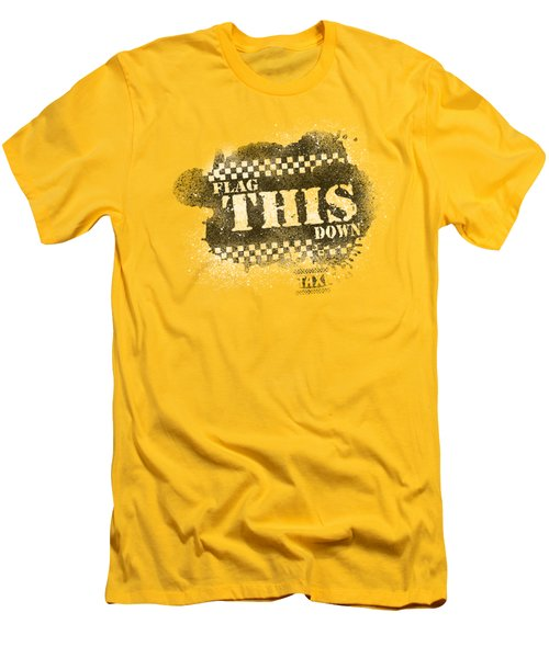 Taxi - Flag This Men's T-Shirt (Slim Fit) by Brand A