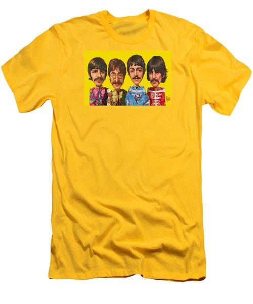 Men's T-Shirt (Slim Fit) featuring the digital art The Beatles by Scott Ross