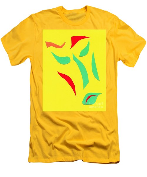 Men's T-Shirt (Slim Fit) featuring the mixed media The Mask by Delin Colon