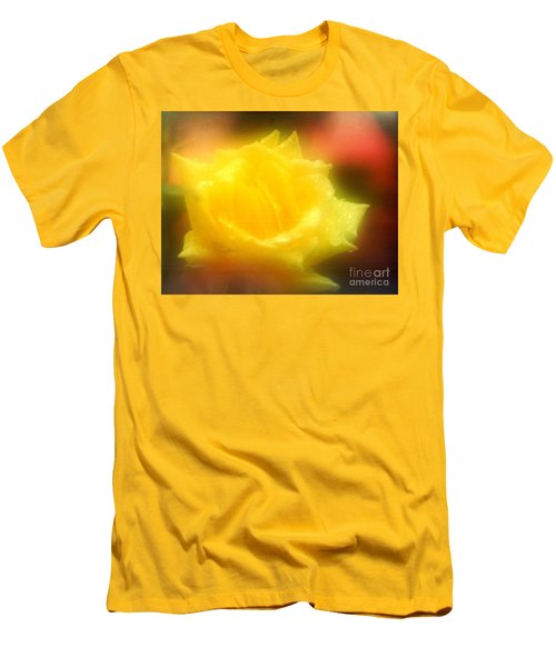 Men's T-Shirt (Slim Fit) featuring the photograph New Orleans  Yellow Rose Of Tralee by Michael Hoard