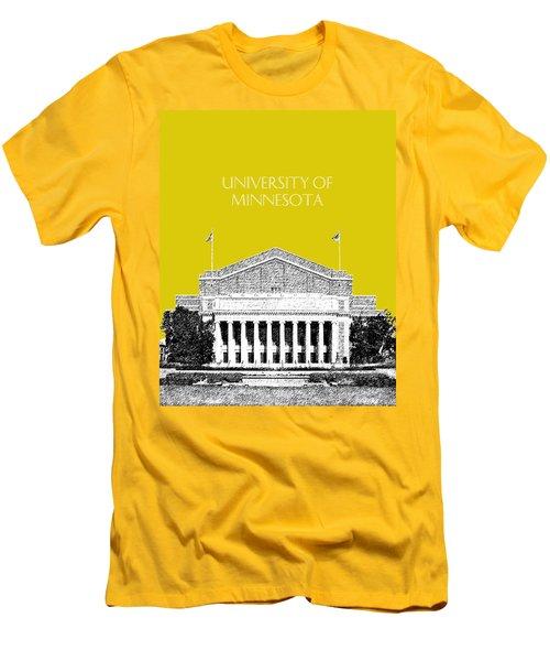 University Of Minnesota 2 - Northrop Auditorium - Mustard Yellow Men's T-Shirt (Athletic Fit)