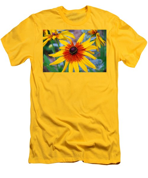Men's T-Shirt (Slim Fit) featuring the photograph Yellow Burst by Allen Beatty