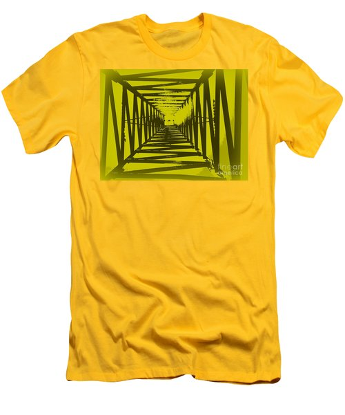 Men's T-Shirt (Slim Fit) featuring the photograph Yellow Perspective by Clare Bevan