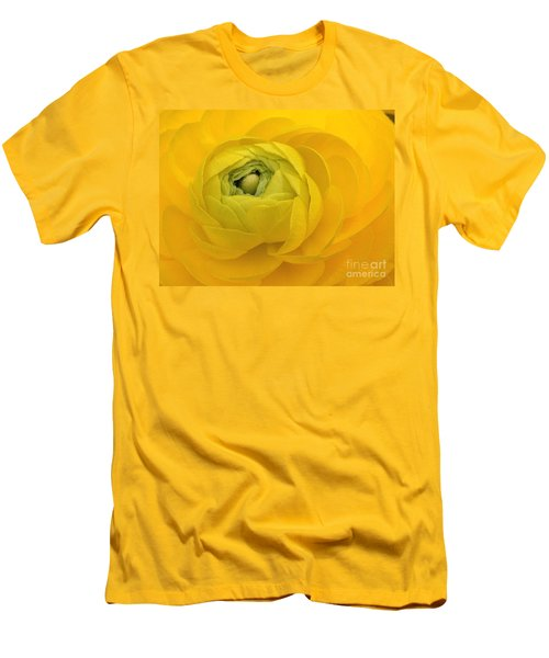 Yellow Ranunculus  Men's T-Shirt (Athletic Fit)
