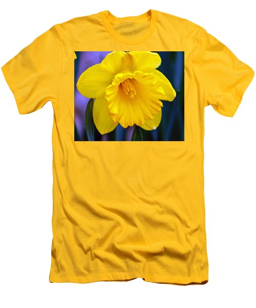 Men's T-Shirt (Slim Fit) featuring the photograph Yellow Spring Daffodil by Kay Novy