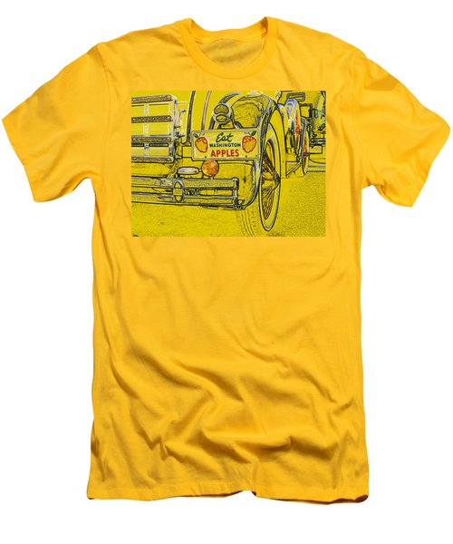 Eat Washington Apples Men's T-Shirt (Slim Fit) by Anne Mott