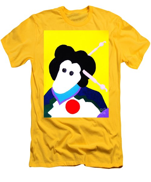 Festival Doll With Shoe Button Eyes Men's T-Shirt (Slim Fit) by Roberto Prusso