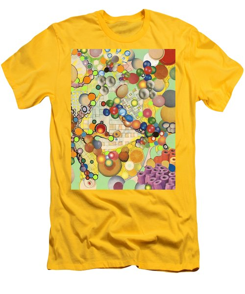 Men's T-Shirt (Slim Fit) featuring the mixed media Globious Maximous by Douglas Fromm