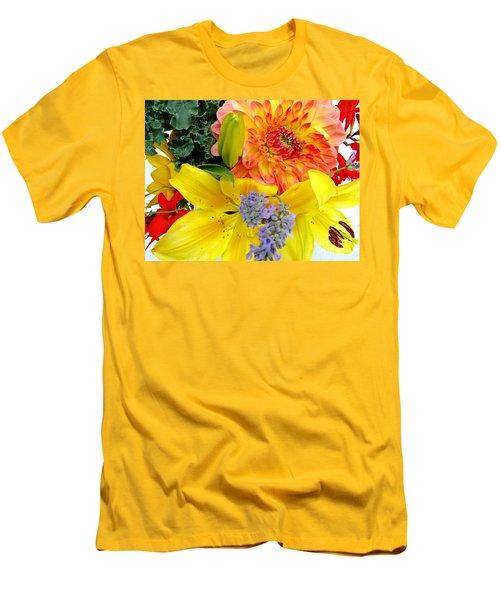 Wedding Flowers Men's T-Shirt (Slim Fit) by Rory Sagner