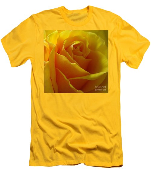 Yellow Rose Of Texas Men's T-Shirt (Slim Fit) by Sandra Phryce-Jones