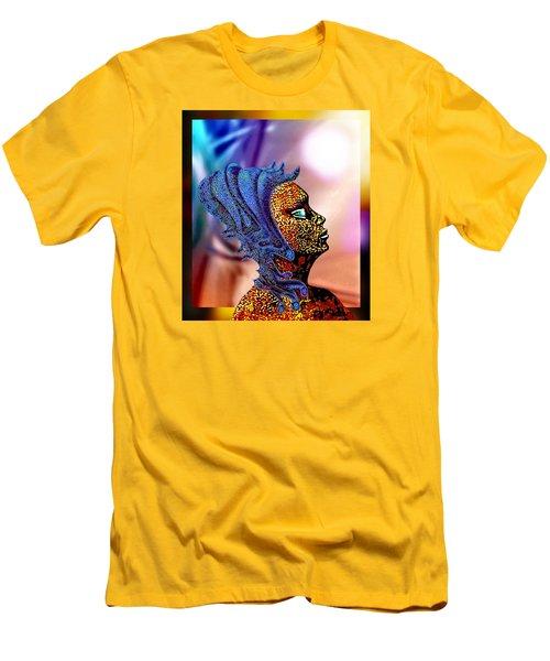 Alien Portrait Men's T-Shirt (Slim Fit) by Hartmut Jager