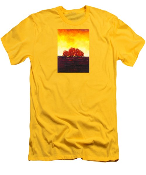 Men's T-Shirt (Slim Fit) featuring the painting Big Red by William Renzulli