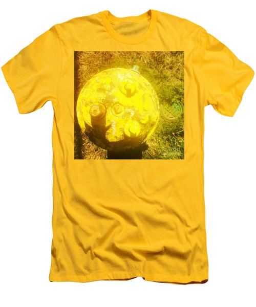 Fire Hydrant #4 Men's T-Shirt (Slim Fit) by Suzanne Lorenz