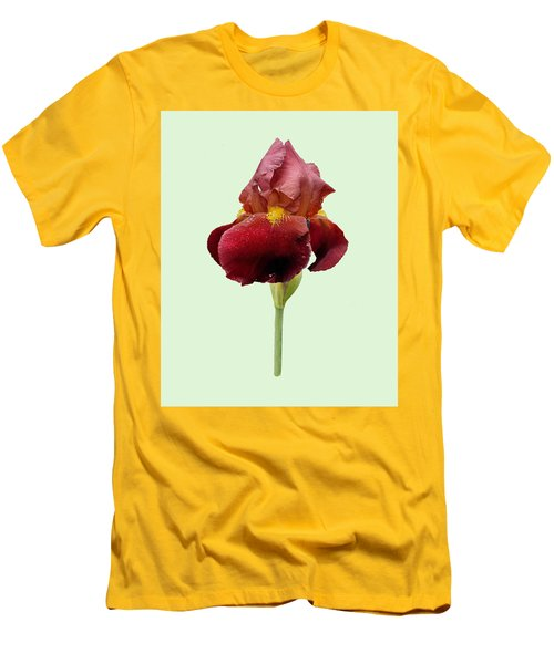 Men's T-Shirt (Slim Fit) featuring the photograph Iris Vitafire Green Background by Paul Gulliver