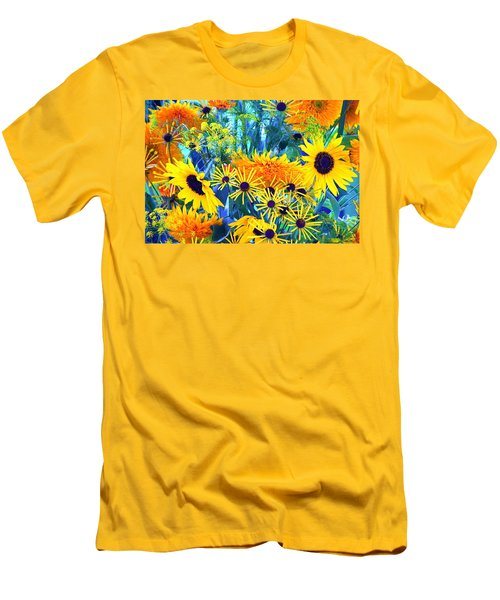 Men's T-Shirt (Slim Fit) featuring the photograph Summer Bouquet by Byron Varvarigos