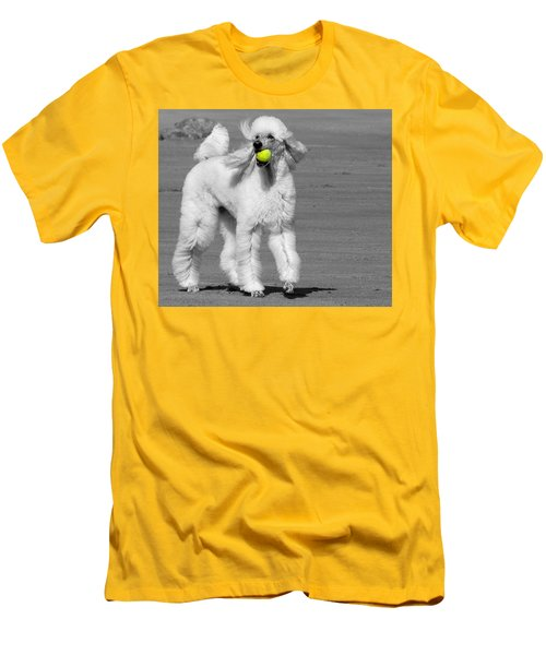 Pedicured Pup Hits The Beach Men's T-Shirt (Athletic Fit)