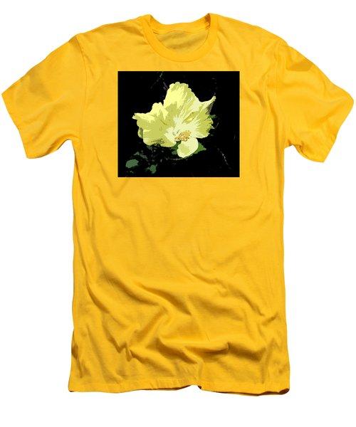 Men's T-Shirt (Slim Fit) featuring the digital art Yellow Beauty by Karen Nicholson