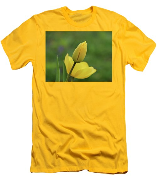 Men's T-Shirt (Slim Fit) featuring the photograph Yellow Tulips by Sandy Keeton