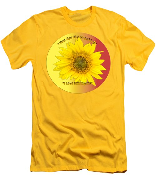 Men's T-Shirt (Slim Fit) featuring the photograph You Are My Sunshine by Thomas Young