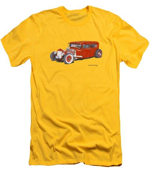 1928 Ford Tudor Jalopy Ratrod Men's T-Shirt (Slim Fit) by Jack Pumphrey