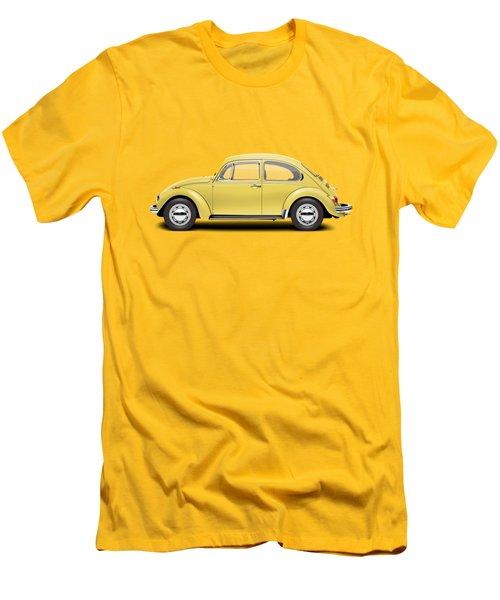 1972 Volkswagen Beetle - Saturn Yellow Men's T-Shirt (Slim Fit) by Ed Jackson