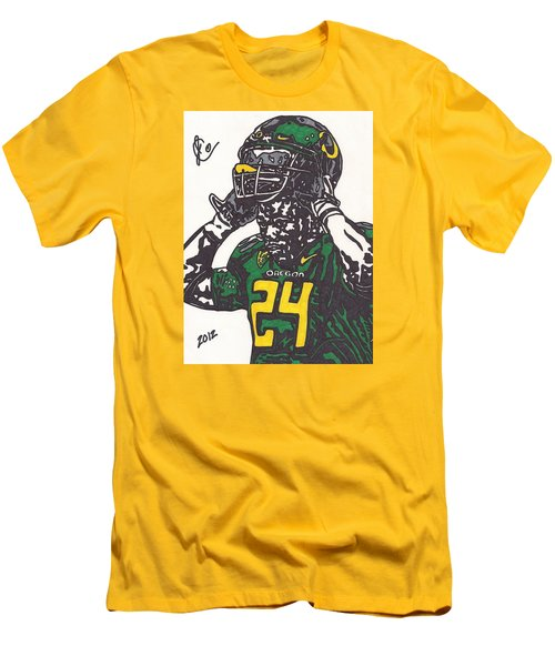 Men's T-Shirt (Slim Fit) featuring the drawing Kenjon Barner 1 by Jeremiah Colley