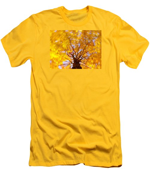 Spinning Maple Men's T-Shirt (Athletic Fit)