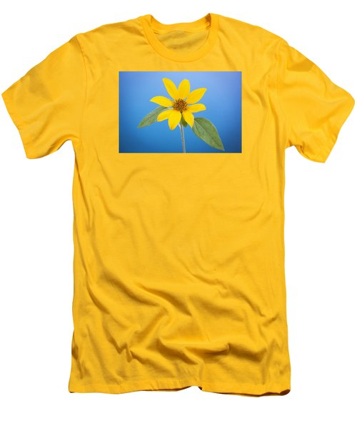 Happy Sunflowers Helianthus  Men's T-Shirt (Slim Fit) by Rich Franco