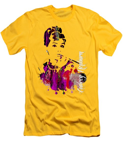 Audrey Hepburn Collection Men's T-Shirt (Slim Fit) by Marvin Blaine