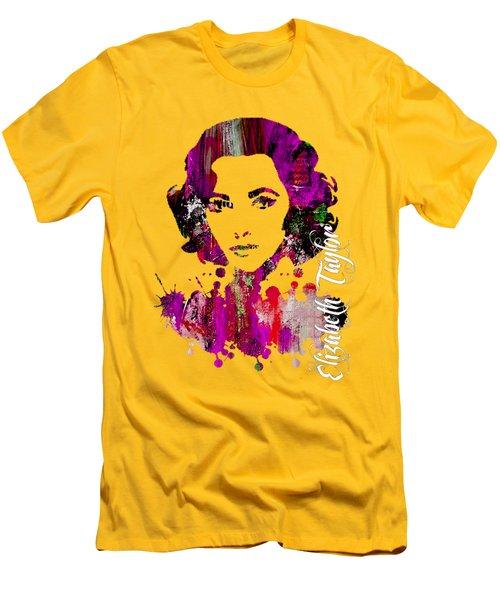 Elizabeth Taylor Collection Men's T-Shirt (Slim Fit) by Marvin Blaine