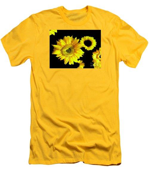Men's T-Shirt (Slim Fit) featuring the photograph A Few Sunflowers by Merton Allen