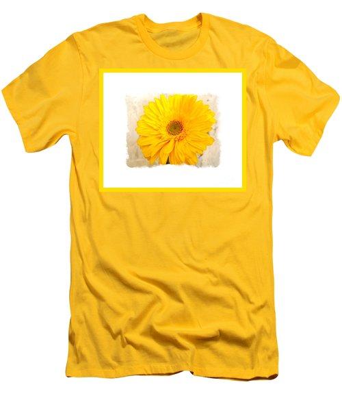 Men's T-Shirt (Slim Fit) featuring the photograph A Grand Yellow Gerber by Marsha Heiken