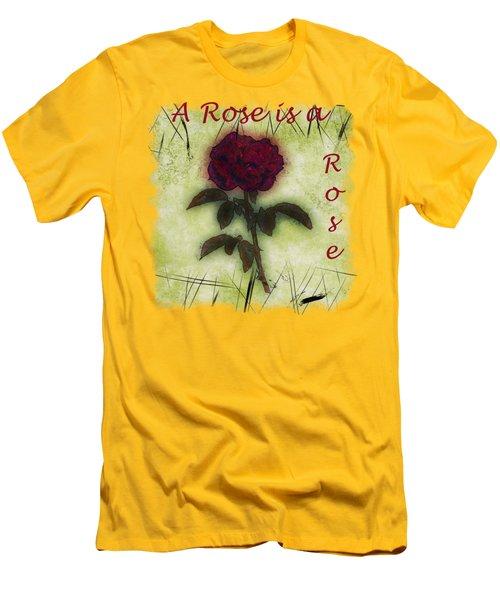 A Rose Men's T-Shirt (Slim Fit) by John M Bailey