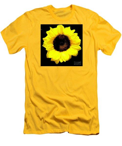 Men's T-Shirt (Slim Fit) featuring the photograph A Single Sunflower by Merton Allen