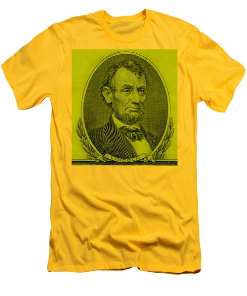 Men's T-Shirt (Athletic Fit) featuring the photograph Abe On The 5 Yellow by Rob Hans