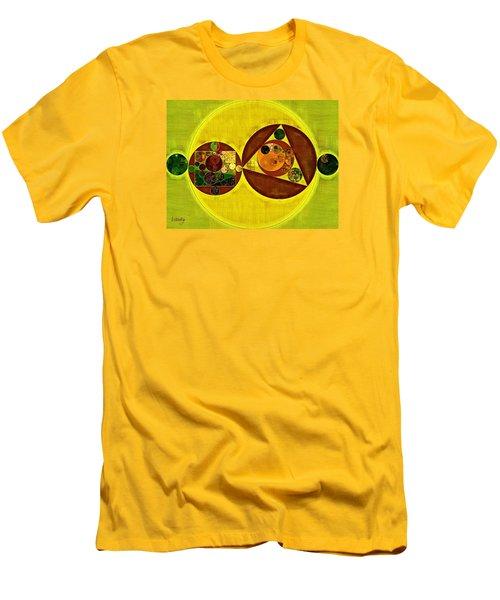 Abstract Painting - Citrine Men's T-Shirt (Slim Fit) by Vitaliy Gladkiy