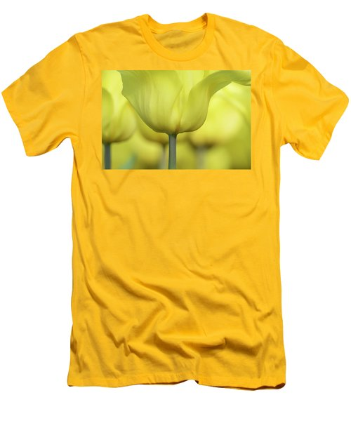 Abstract Yellow Tulips Flowers Photography Online Art Print Shop Men's T-Shirt (Slim Fit) by Artecco Fine Art Photography